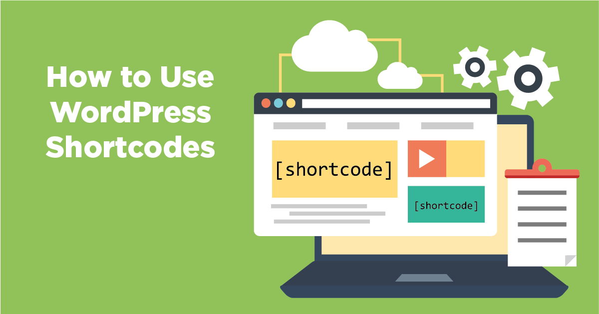 How to insert short codes in WordPress