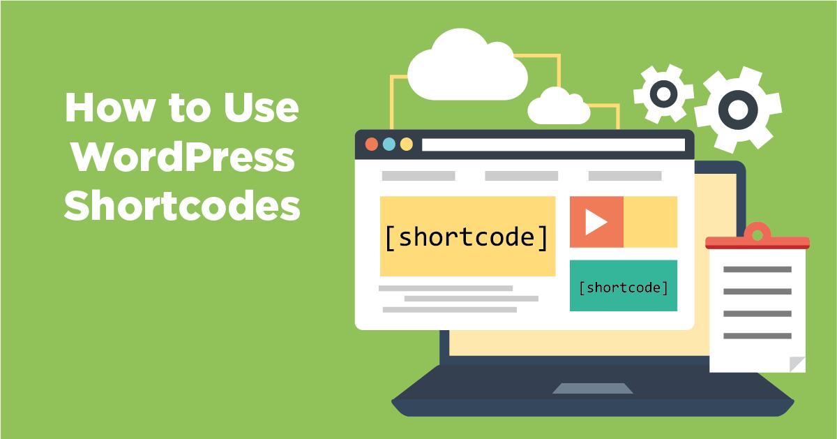 How to insert short codes in WordPress